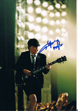 "AC/DC Angus Young 1955- genuine autograph photo 8""x12"" signed In Person"