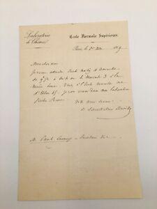 Henri Sainte Claire Deville, chimiste - LAS à Paul Le Roux - 1869 Chimie -