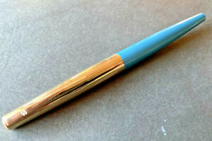 ViINTAGE SHEAFFER STYLIST 505 FOUNTAIN PEN BLUE/TURKUOISE