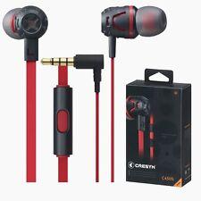CRESYN C450S Red In Ear Earset Earphones Headphones with Mic For Smartphones