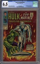 Tales To Astonish #93 CGC 6.5 (OW-W) Hulk vs Silver Surfer,