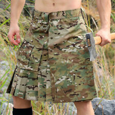 Scottish Camouflage Kilt Mens Traditional Tactical Kilt Outdoor Military Uniform