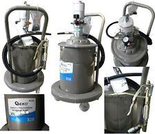 Fettpresse pneumatisch Druckluft Abschmierpresse fahrbar 20 Liter Inhalt!