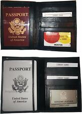 2 New USA Leather passport case, wallet 4 credit ATM ID card, passport case bnwt