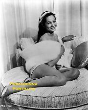 NANCY KWAN 8X10 Lab Photo B&W SEXY LEGS Seductive PORTRAIT Boudoir Bedroom Babe