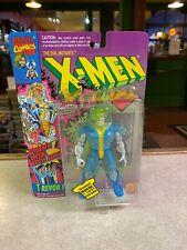 ToyBiz 1990's Marvel Evil Mutants X-Men Figure NIP Purple Card - TREVOR FITZROY