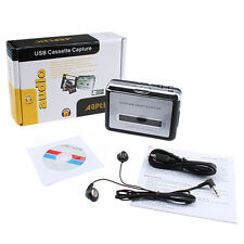 Slim Tape to PC Super USB Cassette-to-MP3 Converter Capture Audio Music Player