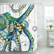 Art Colorful Octopus  Waterproof Shower Curtain Bath Curtain Bath Deco with Hook