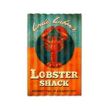 Vintage Style Metal Sign Retro Kitchen Pub Lobster Shack Corrugated 16 x 24