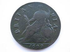 1699 William III Halfpenny, NVF, BMC 687. ACS