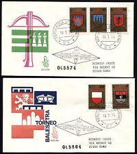 San Marino - 1974 - 9° Torneo della balestra - Due Buste FDC Venezia - Viaggiate