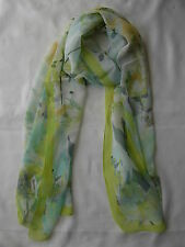 New Flower Printing Design Scarf Wrap Green