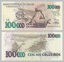 Brasilien / Brazil 100 Cruzeiros Reais 1993 p238 unz.