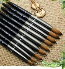 Acrylic 100% Kolinsky Nail Brushes Sizes 8-24 Nail Art Brush Tools Art Tool