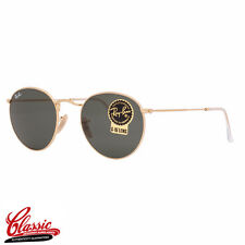RAY-BAN Round Metal SUNGLASSES RB3447 001 Gold Frame 50mm