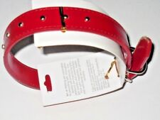 """Dog Collar Red 19"""" x 1"""" Adjustable Can Be Used As Small Belt See My Other Items"""