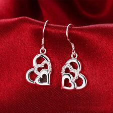 Fashion Women Lady Earrings Heart-shaped Western Style Ear Stud Jewelry Earring