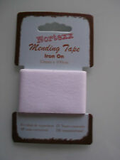 Iron on 100 Cotton Mending Tape - 35mm X 100cm -choice of 10 Colours White