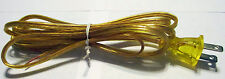 (Lot of 10) 8' SPT-2 18/2 Clear Gold Cord Set w/Polarized Plug.