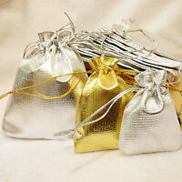 10/20/50 Pcs Organza Wedding Party Favor Candy Bag Jewelry Packing Gift Bags 8X6