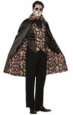 Day of the Dead Skull Cape Adult Costume Accessory
