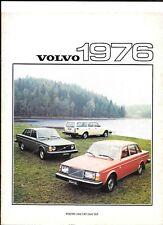 VOLVO 244DL, 244GL, 245DL, 245DLE, 264DL, 264GL AND 265DL SALES BROCHURE 1976