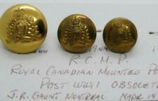 OBSOLETE Royal Canadian Mounted Police Trio of Post-WWII Queens Crown Buttons