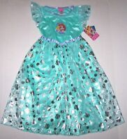 Nwt New Disney Princess Ariel the Little Mermaid Nightgown Costume Flounder Girl