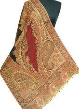 Great For Travel Wool Jamavar Paisley Shawl Hand Cut Jamawar Stole Pashmina