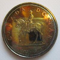 CANADA 1973 SPECIMEN COMMEMORATIVE RCMP SILVER DOLLAR BEAUTIFULLY TONED COIN E