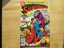 1977 VINTAGE SUPERMAN # 311 SIGNED 2X JOSE GARCIA-LOPEZ & MARTY PASKO, WITH POA