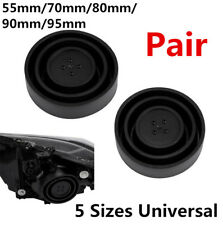 Pair High Quality Flexible Rubber Seal Cap Dust Cover For Headlight Lamp Housing