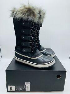 SOREL Women Joan of Arctic Waterproof Insulated Winter Boot Black / Quarry US  8