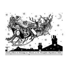 Crafty Individuals Christmas Stamps - Santa's Sleigh, Be Good for Goodness Sake