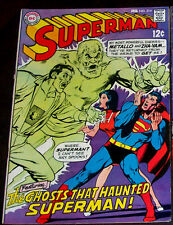 SUPERMAN #214 (VF+) Haunted by the Ghosts of Metallo & Zha-Vam! 1969 DC