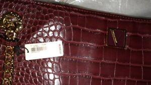 Victoria's Secret shoulder Tote w/mini mirror new crimson croc