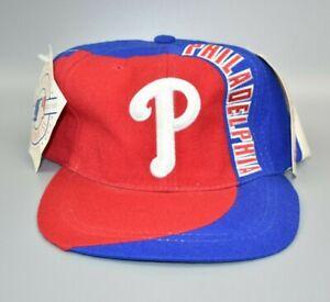 Philadelphia Phillies American Needle Swirl Spell Out Vintage Wool Snapback Hat