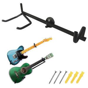 Horizontal Guitar Wall Hanger Bracket Electric, Acoustic, Bass Guitar & Ukulele