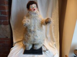 """VERY RARE VINTAGE PETER PAN LOST BOY SHOP DISPLAY AUTOMATION 31"""" TALL, WORKING"""