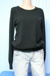 PURE Collection 100% cashmere black crew neck long sleeve pullover sweater  6