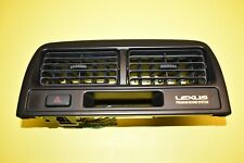 97-01 Lexus ES300 Dash Center Air Outlet A/C Vent Grille w/ Hazard Switch OEM