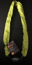 Essentials Combination Chain Lock Lime Yellow 90cm