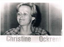 CHRISTINE OCKRENT, PORTRAIT N&B, PHOTO MOBA PRESSE 1981