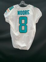 #8 MATT MOORE MIAMI DOLPHINS GAME USED WHITE AUTHENTIC NIKE JERSEY YR-2013 SZ-44
