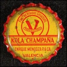 KOLA CHAMPAÑA CORK SODA BOTTLE CAP CROWNS VALENCIA SONORA MEXICO ENRIQUE MENDOZA