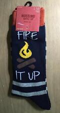 """Men's Camp Fire Themed Socks """"FIRE IT UP""""  ~ Shoe 6-12  ~ NEW"""