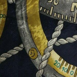 Blue Gray Nautical Silk Tie