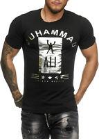 Muhammad Ali T-Shirt M. Box Champion Du Monde Chemise Noir Blanc Slim John Kayna