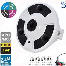 1080P 2.4MP Fisheye Panoramic  camera HD-TVI, CVI, AHD, 4-in-1 Mode 360 Degree