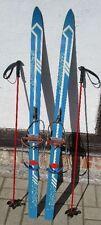 KINDER- SKIER 1,19 m Ski old ancien antichi vieux GERMANIA DDR + STÖCKE um 1965